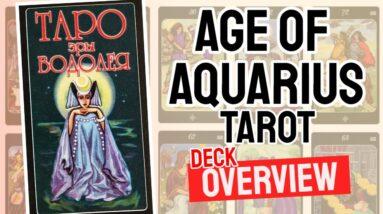 Age of Aquarius Tarot Deck REVIEW - All Tarot Cards List
