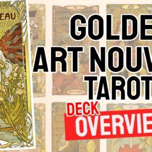 Golden Art Nouveau Tarot Deck REVIEW - All Tarot Cards List