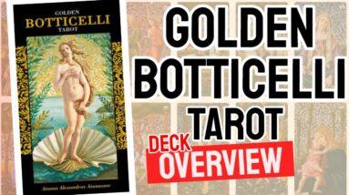 Golden Botticelli Tarot Deck REVIEW - All Tarot Cards List