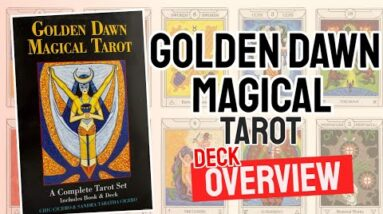 Golden Dawn Magical Tarot Deck REVIEW - All Tarot Cards List